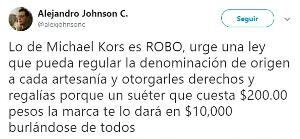 tuit sobre Michael Kors