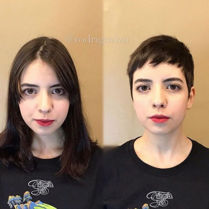 Mujeres antes y después de cambio de look