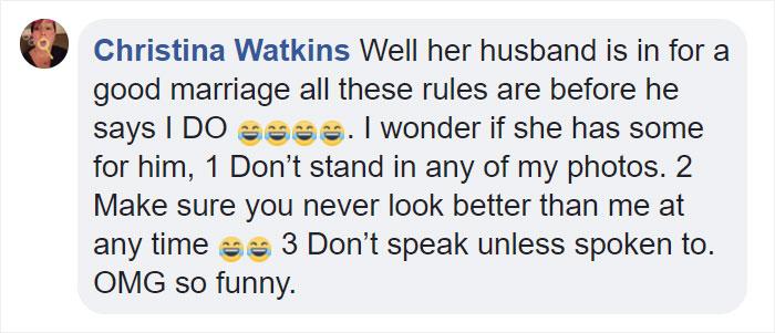 Comentarios en facebook sobre una boda