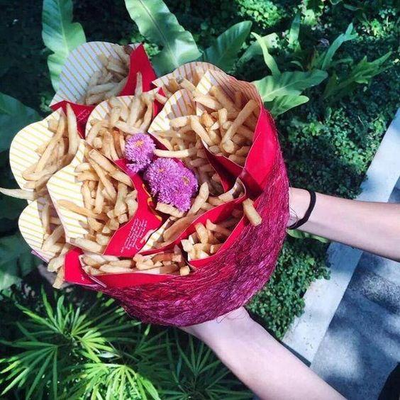 ramo con papas fritas