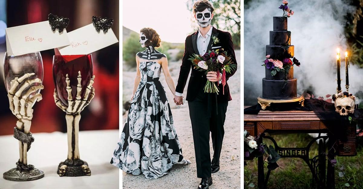 26 Ideas increíbles para boda con temática de terror que amarás si eres una chica darks