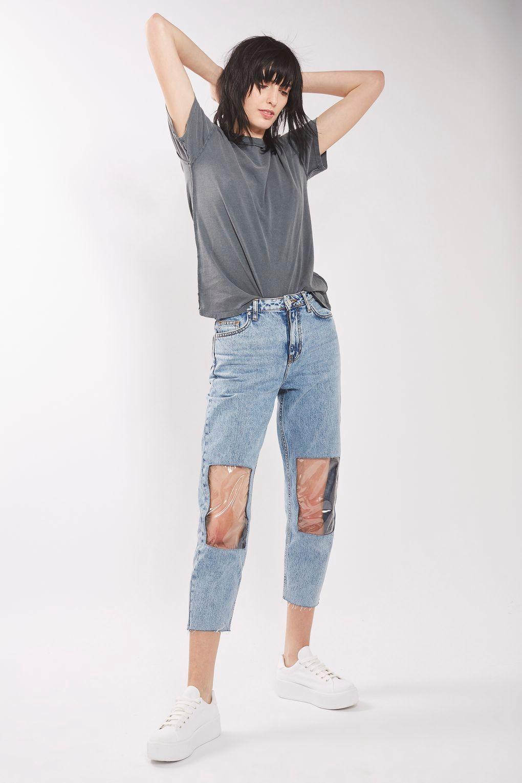 Pantalones con parches trnsparentes
