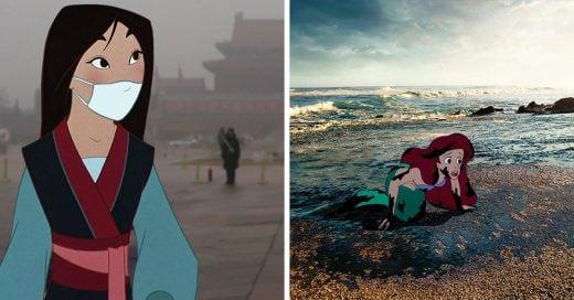 """Este artista le dio un verdadero """"felices por siempre"""" a los personajes de Disney"""