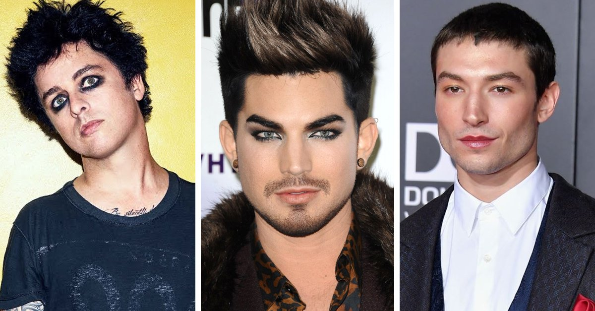 15 Celebridades que demuestran que el maquillaje también es para hombres