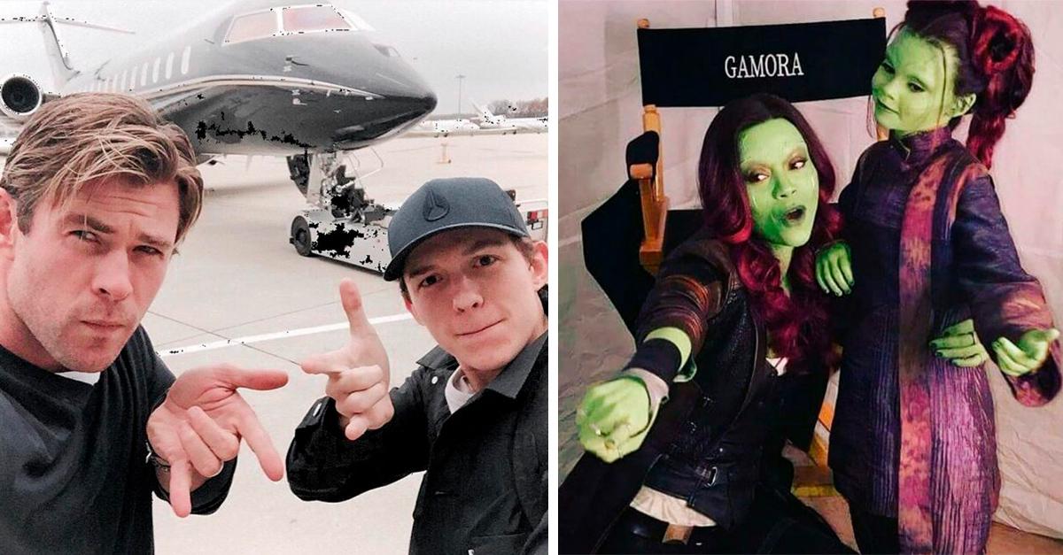 16 Fotografías detrás de cámaras del elenco de Marvel