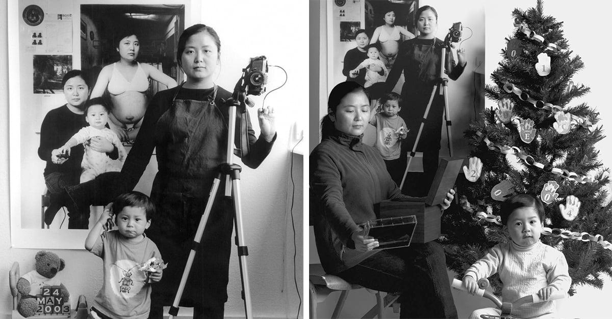 Annie Wang retrata el lado artístico de la maternidad con esta serie fotográfica