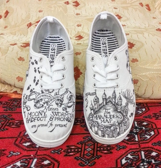Tenis con diseño de Harry Potter