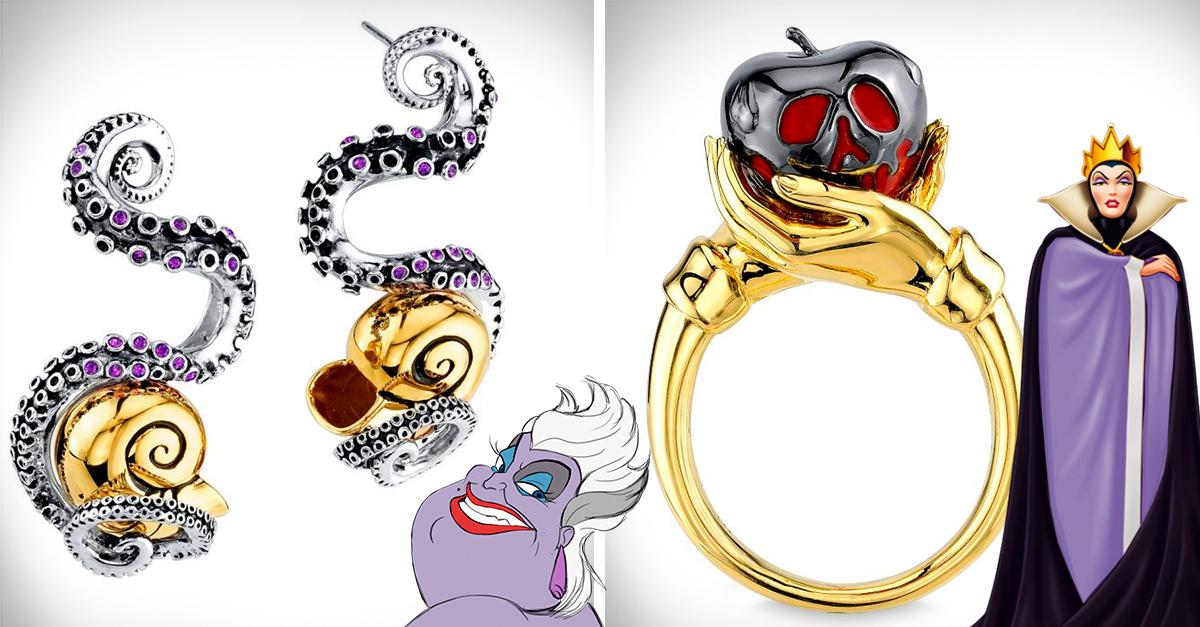 Las villanas de Disney sirvieron de inspiración para crear esta línea de joyería; tu villana interior se alegrará