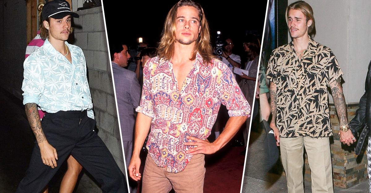 Fans aseguran que Justin Bieber luce exactamente como Brad Pitt con su nuevo look
