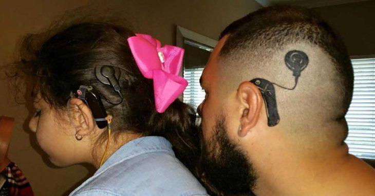 padre e hija de perfil