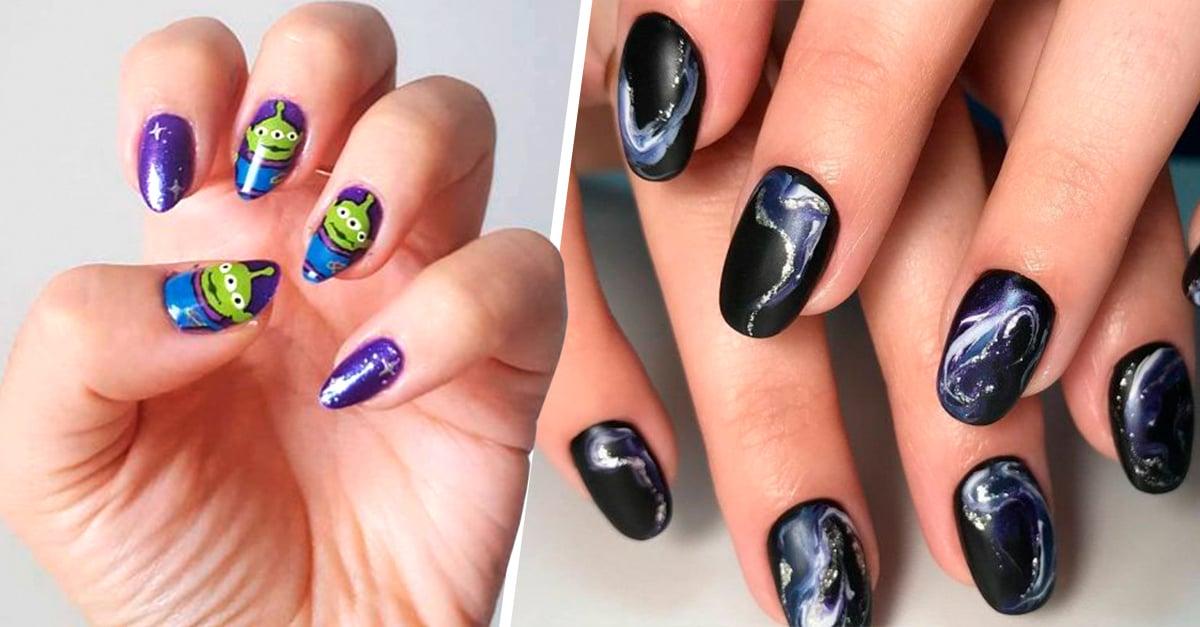 Diseños de uñas con los que te sentirás parte del universo
