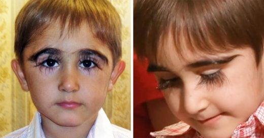 Las pestañas de este niño ruso serán la envidia de toda mujer; ¡miden casi 5 centímetros!