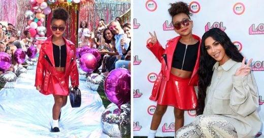 North West debutó como modelo y Kim Kardashian está orgullosa