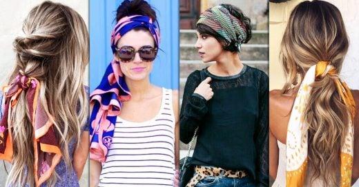 15 ideas de peinados con mascadas que te encantarán