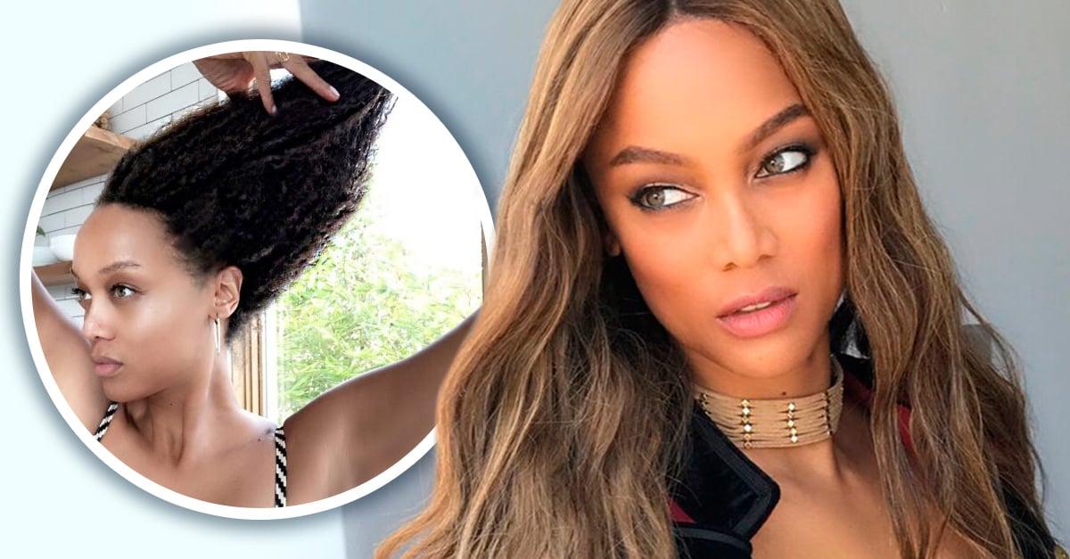 Tyra Banks le da unas merecidas vacaciones a su peluca para mostrar su cabello al natural