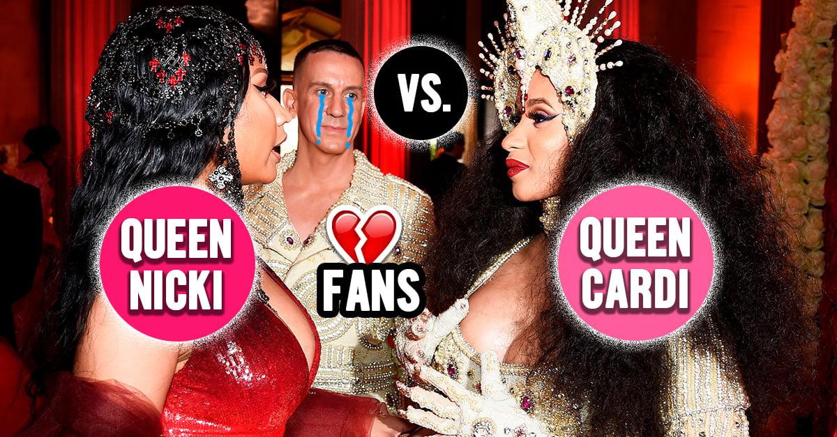 Cardi B y Nicki Minaj se pelean a golpes durante la Harper's Bazaar ICONS Party +VIDEO