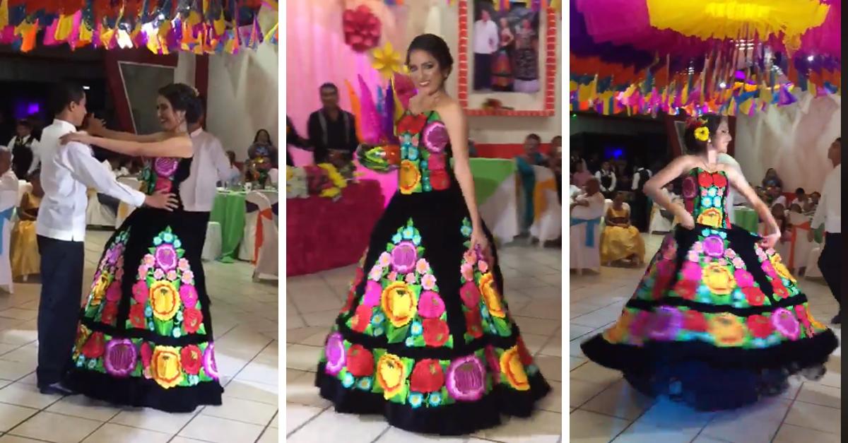 Celebró sus XV años con un baile tradicional en honor a su abuela… y se ganó el respeto de internet