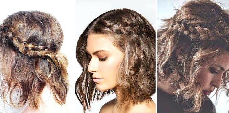 tres mujeres con cabello corto y trenza d elado