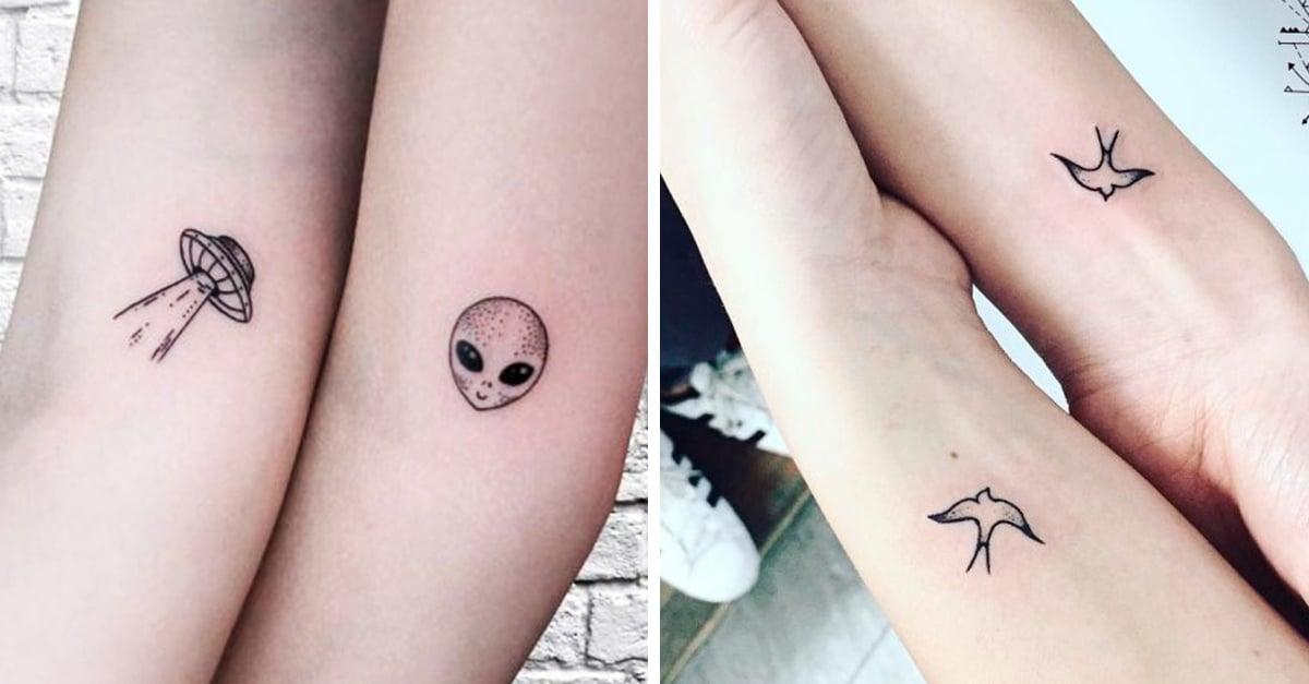25 Tatuajes minimalistas para honrar la relación con tu hermana; ¡querrán correr a hacércelos!