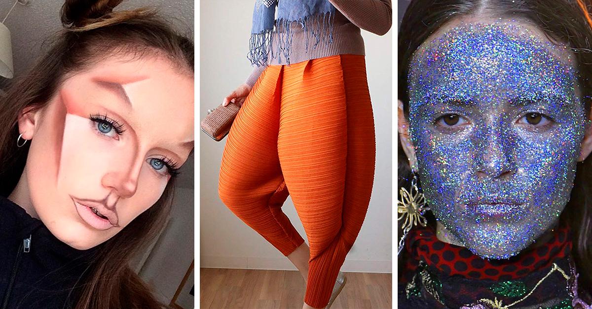 10 extrañas tendencias de maquillaje que nos dios el 2018 y es mejor dejarlas en internet