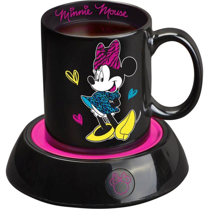 taza negra de minnie mouse y maquina para calentarla