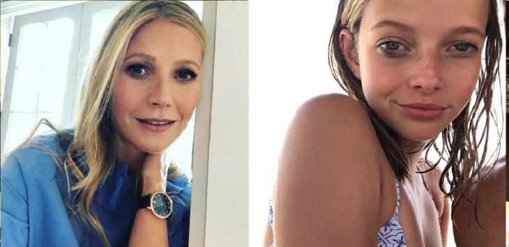 mujer rubia junto a niña rubia gwyneth paltrow