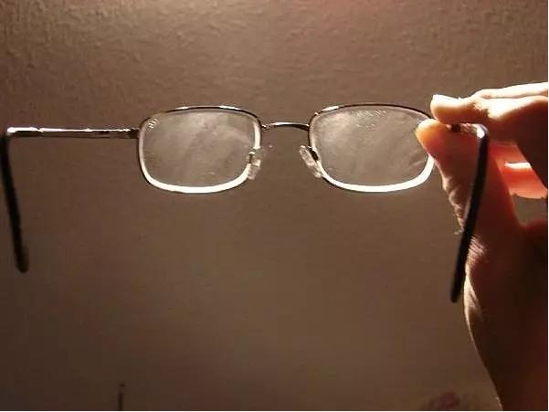 lentes con polvo