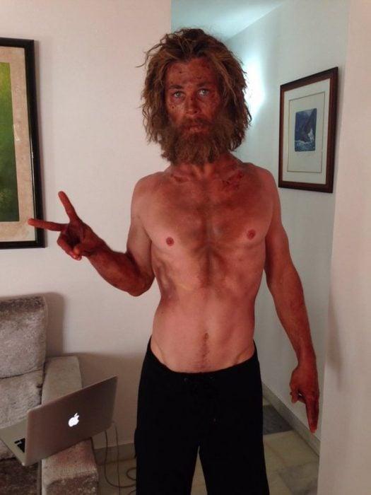 Chris Hemsworth perdió 20 kilos para la película En el corazón del mar