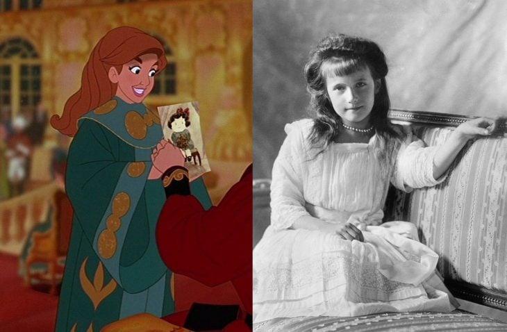 Comparación de Anastasia en la película y en la vida real
