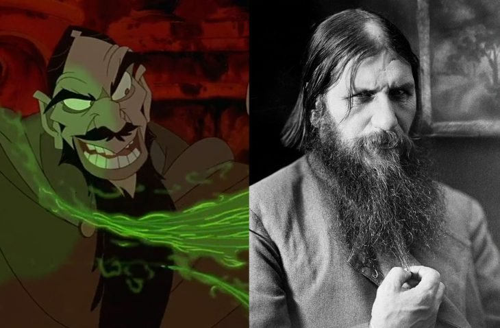 Comparación de Rasputín en la película y en la vida real