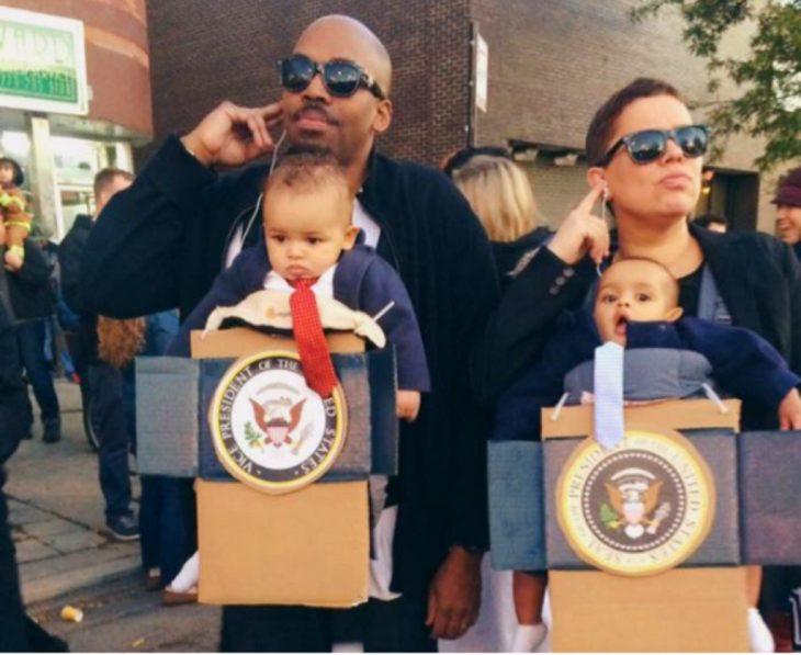 Bebés disfrazados de presidentes