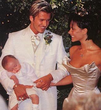 David y Victoria Beckham el día de su boda