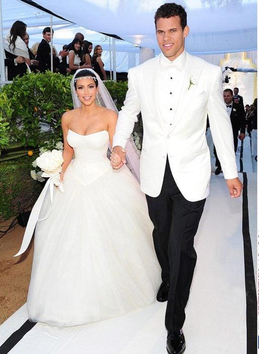 Kim y Kris humpries el día de su boda