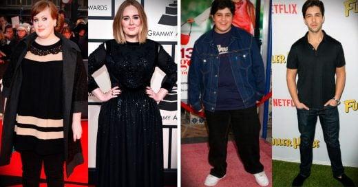15 Celebridades antes y después de transformar su cuerpo