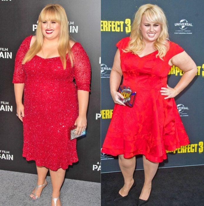 Rebel Willson antes y después de perder peso