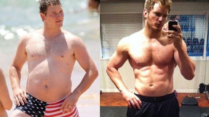 Chris Pratt antes y después de perder peso