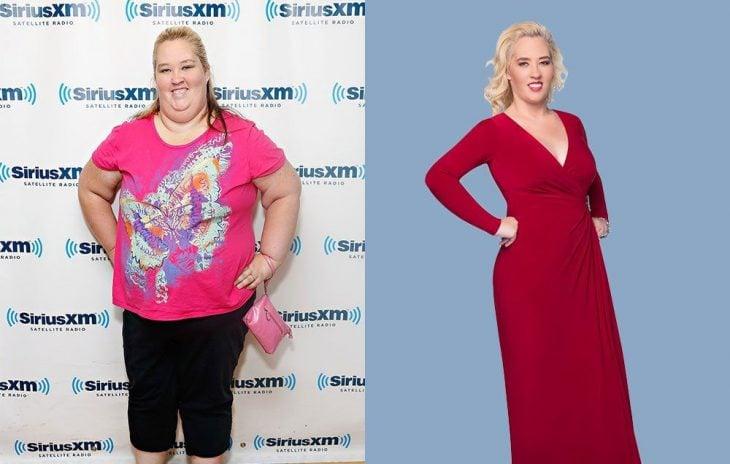 Mamá june antes y después de perder peso