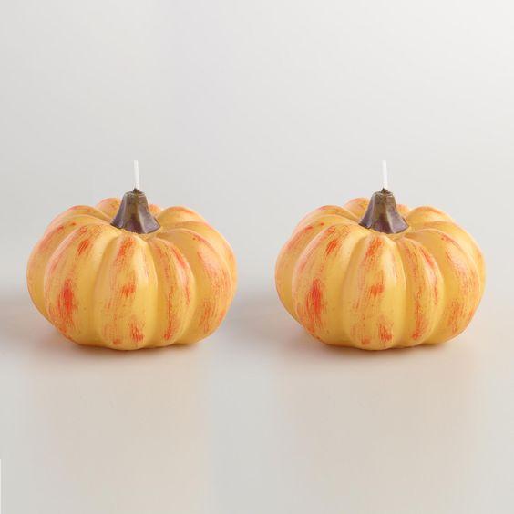 Velas de calabaza para halloween