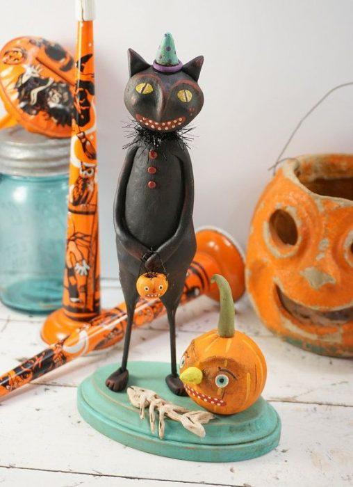 Adorno de gato para halloween