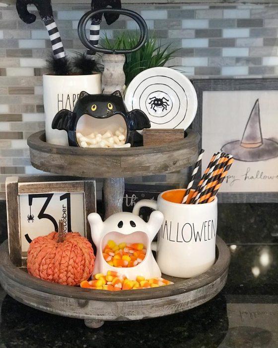 Recipiente para caramelos de halloween
