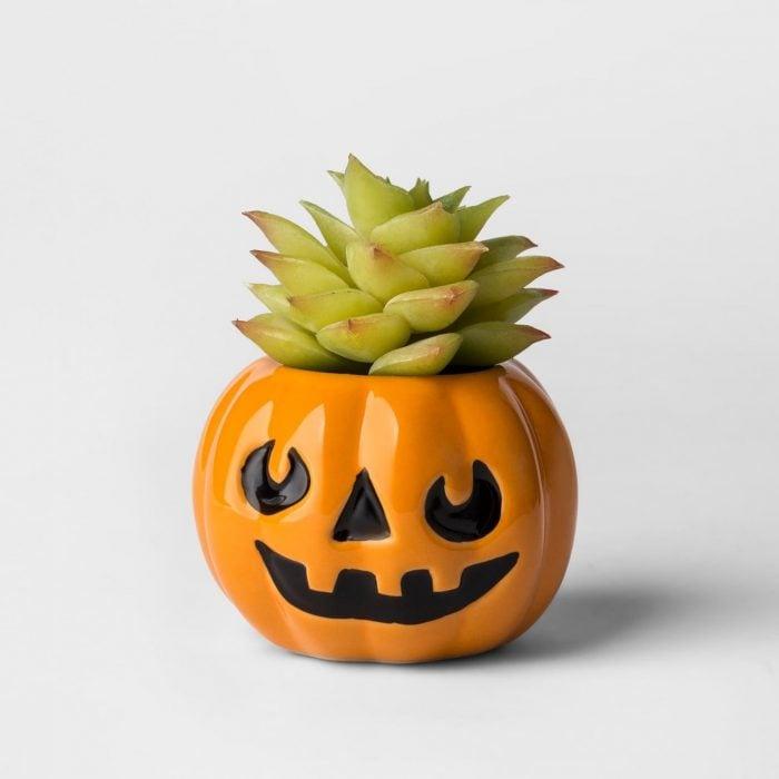 Maceta de calabaza para halloween