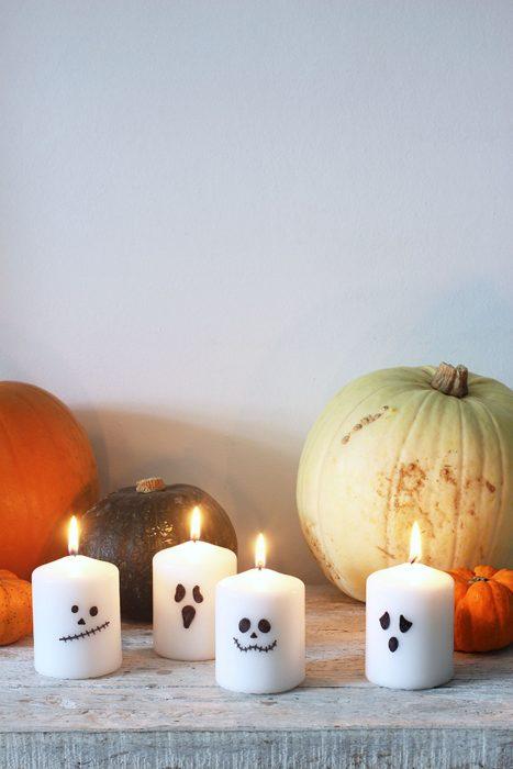 Velas de fantasma para halloween