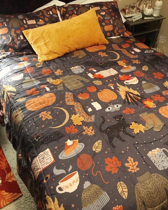 Cubre cama para halloween