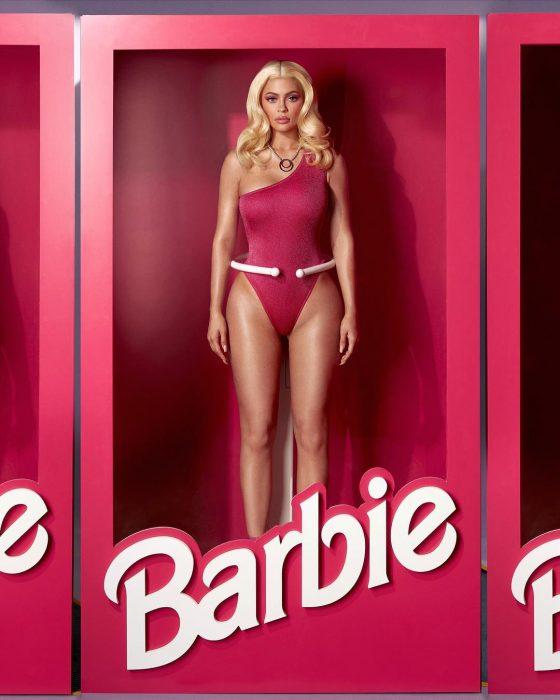 Kylie jenner vestida de barbie