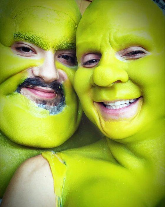 Heidi Klum vestida de Shrek