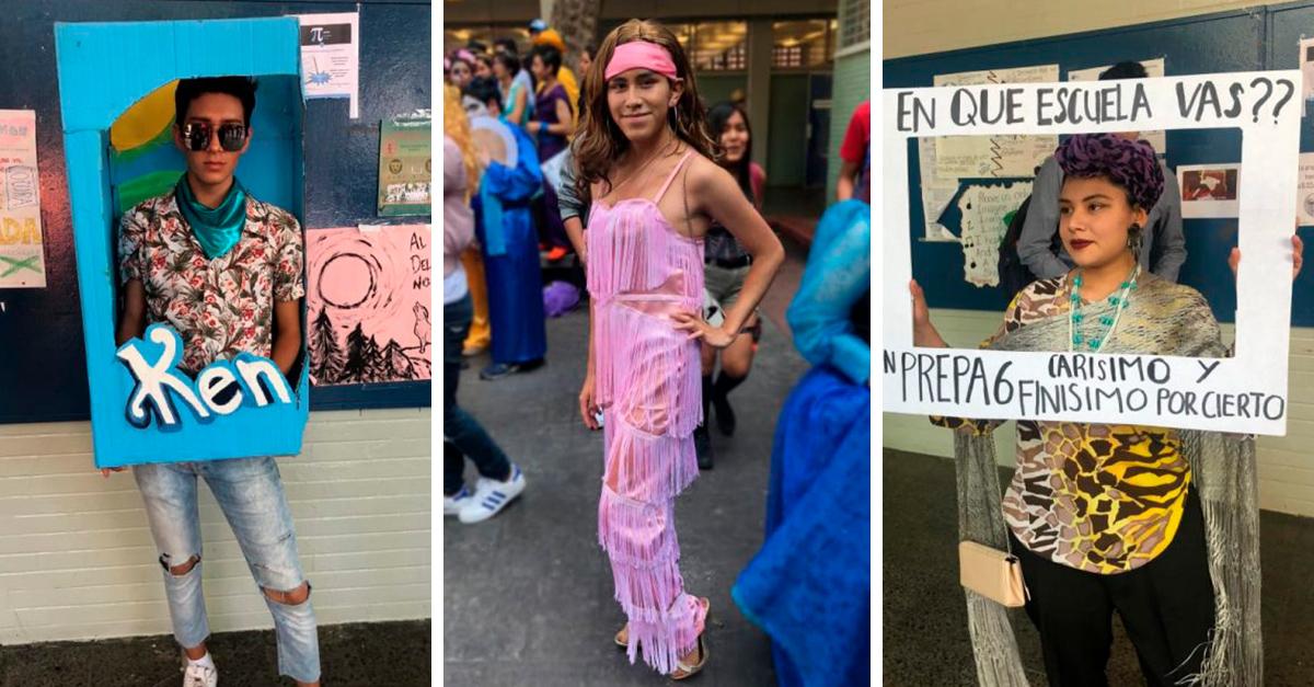 Los estudiantes de esta preparatoria en México, definitivamente saben cómo disfrazarse