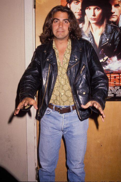 George Clooney tenía un estilo rockero en 1990