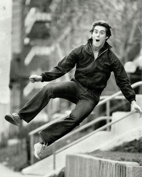 Jim Carrey de 19 años de edad en 1981