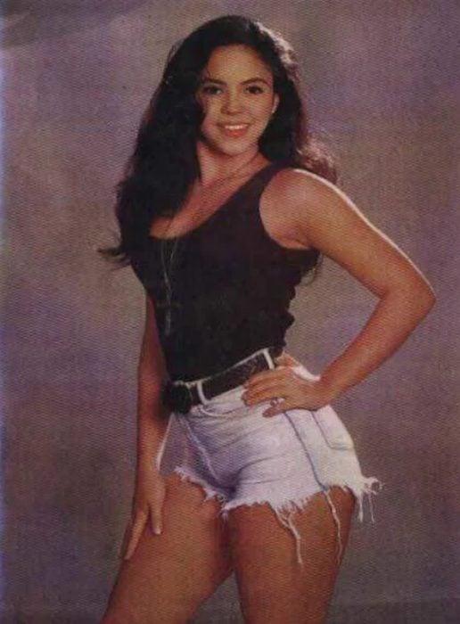 Shakira en 1990, antes de ser una estrella internacional