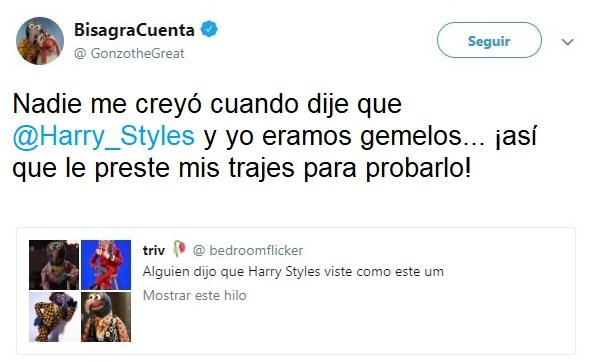 Harry Styles viste igual que Gonzo